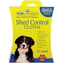Furminator Dog Shed Control Cloths 12-Pieces