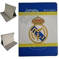 【iPad 2/3/4 ケース 】iPad 2 & iPad 3 & iPad 4 ケース,Dingtao ヨーロッパのサッカーシリーズのチームロゴデザインフリップPUレザーケースアップル ipad 2/3/4 (Real Madrid)