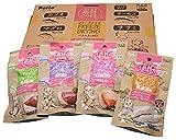[Amazon限定ブランド] Petzone(ペットゾーン) 素材そのままフリーズドライ For Cat バラエティMIX4種の味 10袋入