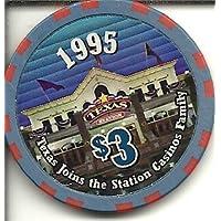 $ 3 Texas駅限定北ラスベガスカジノチップ