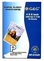 G & G 4X 6プレミアムフォト用紙防水–20シート