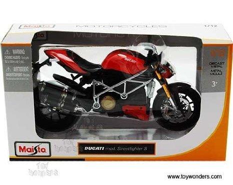 31197 Maisto (マイスト) - Ducati Mod. Streetfighter S Motorcycle (1:12, Red) 31197 ダイキャスト Model Auto Vehicle Automobile Metal Iron Toy ミニカー ダイキャスト 車 自動車 ミニチュア 模型 (並行輸入)