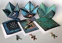 Frog、ペガサス、海亀ギフトセット–3Encouraging Joyfulグリーティングカードギフトセット–Origamiゲームとカラフルなハンドメイドチャーム–美しい励まし、誕生日ギフトのアイデア子供と大人