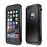Eonfine-正規品 iPhone 6s / 6 用 防水ケース 改良版 アイフォン6sケース 防水 耐衝撃 防塵 落下防止 IP68 指紋認証対応 フルプロテクションカバー iPhone6s case ブラック