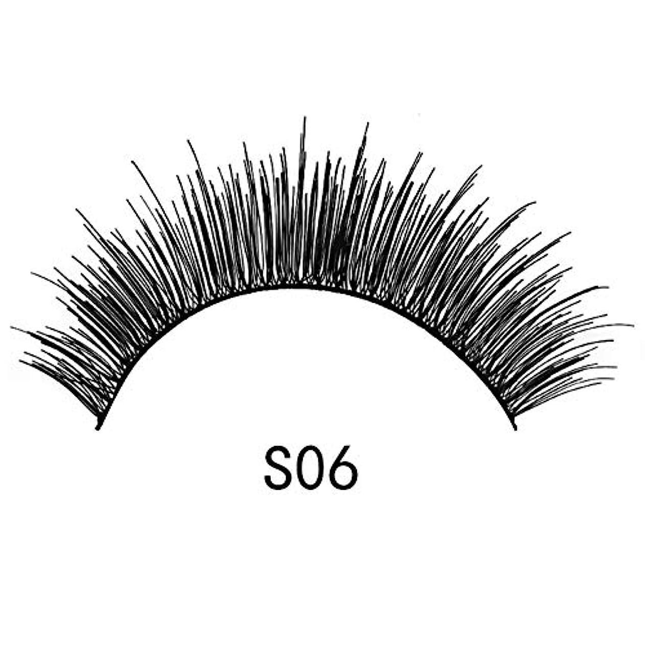 虫髄結果Guomao つけまつげ、アイテール長くする、手作りまつげ、5ペア、厚くリアル (色 : S06)