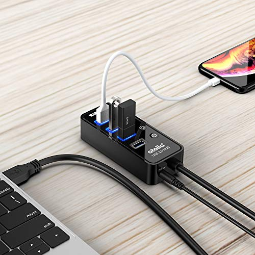 『atolla USB3.0ハブ 4ポート5Gbps高速データ転送 USB HUB 3.0 の 増設 + 1充電ポート、独立スイッチ付 バスパワー』の6枚目の画像