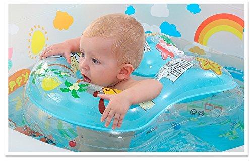 DankS 赤ちゃん 浮き輪 ベビー 胴回り ボディリング 幼児 スイムリング フロート 子供用 キッズ 知育用具 お風呂 鈴が内臓 ハンドポンプ付き 1年保証付き