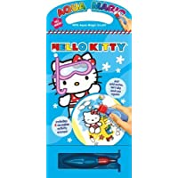 Children 's Hello Kitty Aqua Magic Book再利用可能なColouring水のみno mess