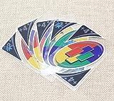 【AedoE】防水 UNO プラスチック トランスペアレント カード ファミリー