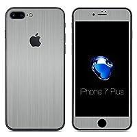 [全31色] wraplus for iPhone7 Plus [シルバーブラッシュメタル] スキンシール (前面/背面)