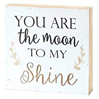 You Are The Moon To My Shine Engraved 8 x 9木製印刷オーバーレイテーブルSign Plaque