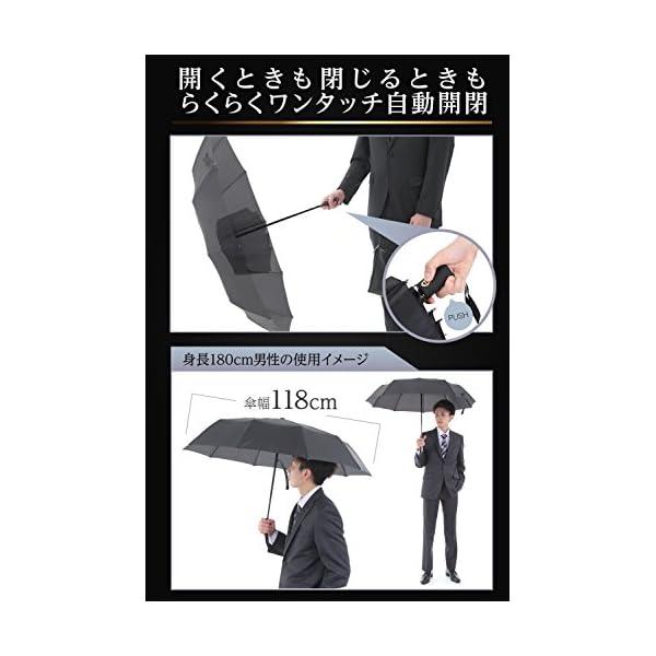 GranPara おりたたみ傘 ワンタッチ自動...の紹介画像5