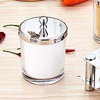ステンレス鋼調味料箱ガラス塩缶調味料缶キッチン調味料箱調味料瓶詰め瓶 (色 : A)
