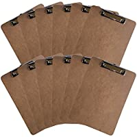 "セットof ( 3 ) Clipboards ( 9 "" x12 "" ) W / Retractable HangingループブラックDuckブランド Set of 12 ブラウン"