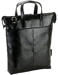 [豊岡製 かばん ] 牛革 ショルダーバッグ 2way トートバッグ 本革 軽量 メンズ (クロ)