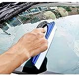 【全国一律送料無料】柔らかな シリコン素材 ガラス掃除プロ用ツール グラススクイジー ガラス用スクレーパー (一字型) KNJJP0025