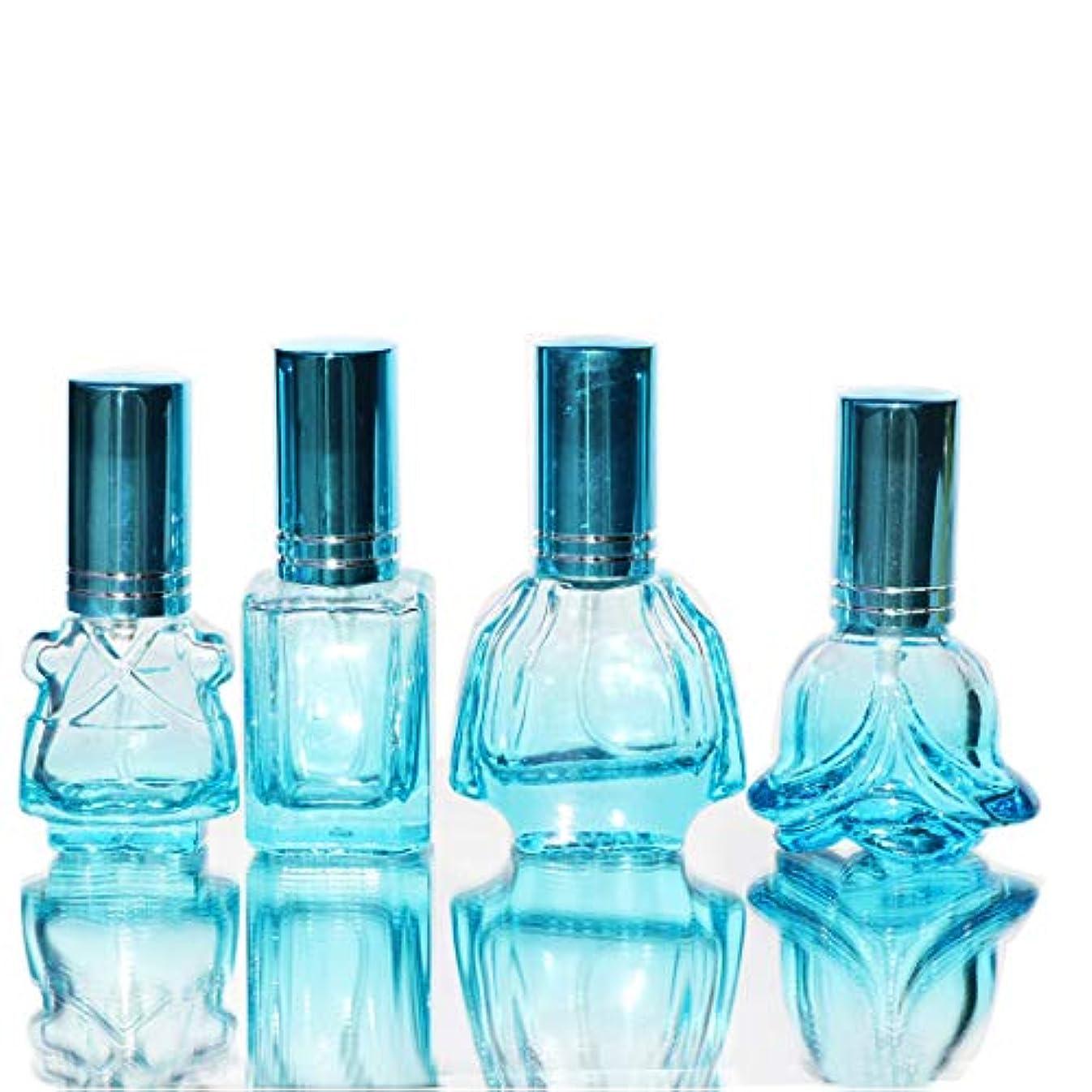 無臭建てる断言するWaltz&F カラフル ガラス製香水瓶 フレグランスボトル 詰替用瓶 空き アトマイザー 分け瓶 旅行用品 化粧水用瓶