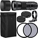 Sigma 150–600mm F / 5–6.3DG OS HSM Contemporaryレンズfor Canon EF with 95mm 95mmのUV偏光ファイラー+ケース+襟C - PL AOMスターターキット–インターナショナルバージョン