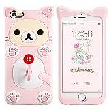 Zoeking iPhone6/6s 対応 可愛い iphone6ケース シリコン ケース 立体 柔らかいカバー 360度の保護 耐久性 携帯ケース ピンク (iPhone6/6s, ピンク猫)