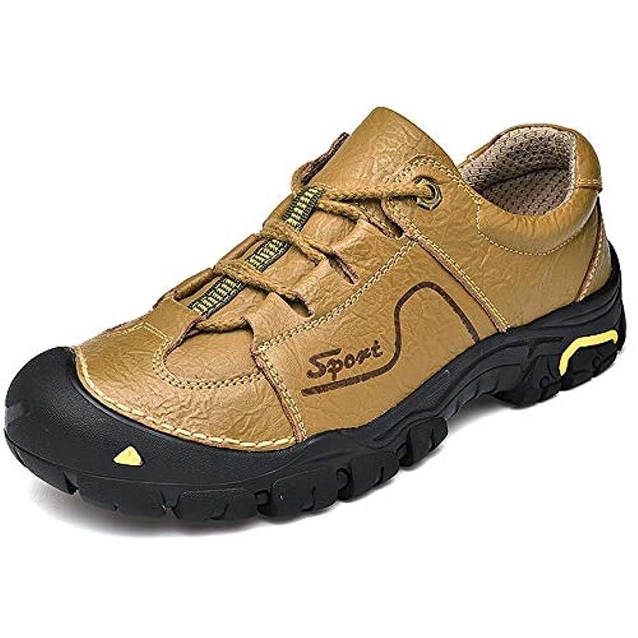 誰でもプログラムくすぐったいハイキング シューズ - ハイキング 靴 ハイキングシューズ| ラバーソール| つま先を保護する| 防水| 滑り止め| 褐色 (Size : 42 2/3)