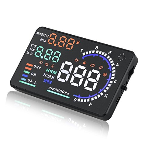 AUDEW ヘッドアップディスプレイ スピード obd2 メーター HUD OBD2/EU OBD 運転走行距離の測定 ドライブドクター フロントガラス ディスプレイ表示 A8 [並行輸入品]