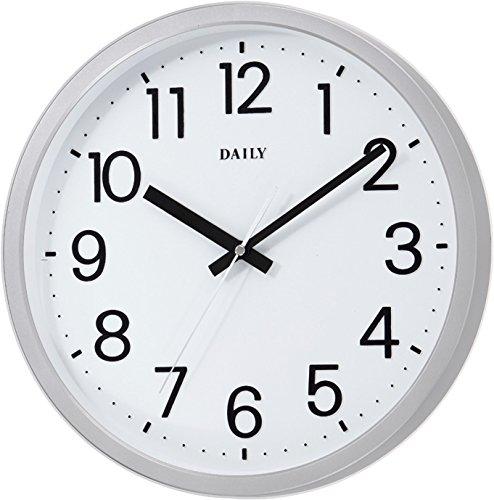 リズム時計 DAILY ( デイリー ) クォーツ 掛け時計 フラットフェイスDN 見やすい オフィス スタンダード 白 4KGA06DN19