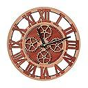 GIFT GARDEN 掛け時計 ギアの形 友達のギフト 壁掛け時計 北欧 木製 ウォールクロック B6002