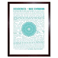 Desiderata Mandala Ehrmann Typography Art Print Framed Poster Wall Decor 12X16 Inch タイポグラフィポスター壁デコ