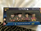 ビートルズ フィギュア The Beatles , Four Fab beatles titans vinyl three inch vinyl figures [並行輸入品]