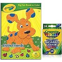 Crayola Lサイズ 楽しい本とカラー リトルフレンズ カラーマックス クレヨン 24本