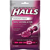 【2個】Halls Sugar Free Triple Soothing Action Black Cherry - 25ドロップ ホールズ シュガーフリー ブラックチェリー