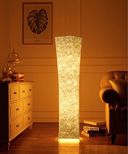 LEISA スタンドライト フロアスタンド フロアライト フロアランプ 和風の暖かい柔光シンプル創意フロアスタンド フロアライトフロアランプ 間接照明 おしゃれ & LED電球2個 プレゼント(132X26CM)