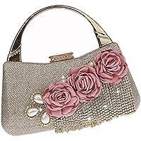 Baosity 1 Piece Flower Crystal Evening Bag Clutch Bags Wedding Purse Rhinestone Lady