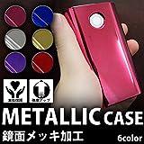 【M】 360度フルカバー glo専用 ケース グロー 電子たばこ 電子タバコ カバー メタル メッキ ゴールド FJ3847-04