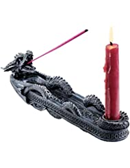 Design Toscano Dragon of Trelawny Manor Incense Burner Sculptural [並行輸入品]