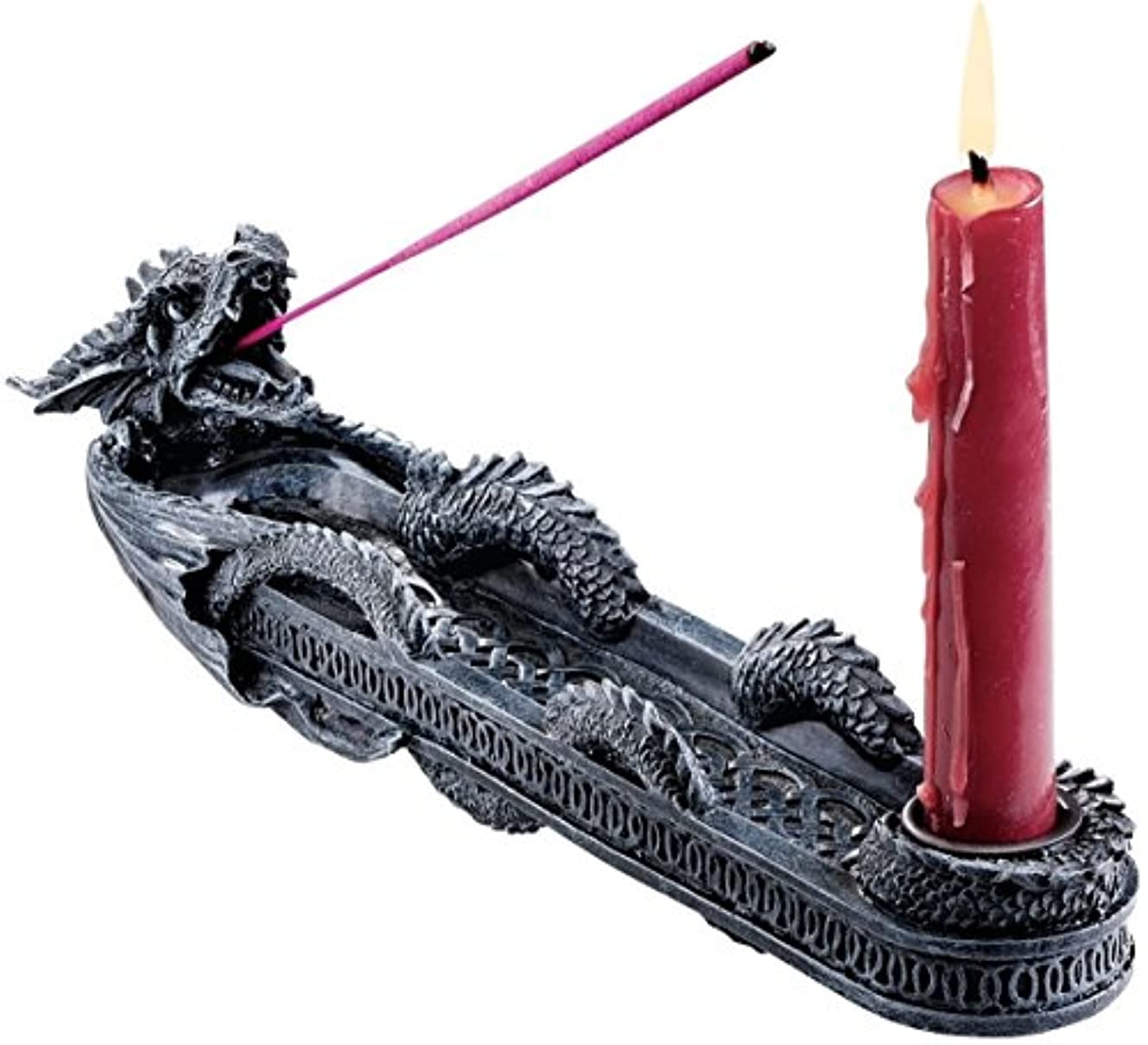 チキンマスタードリッチDesign Toscano Dragon of Trelawny Manor Incense Burner Sculptural [並行輸入品]