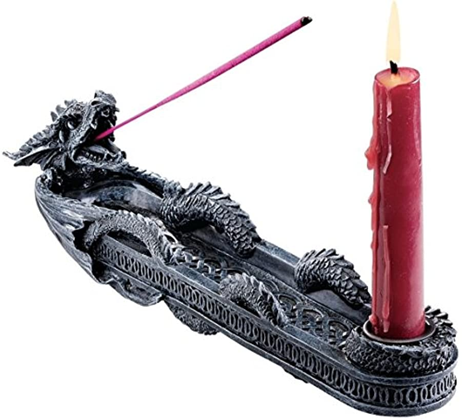 シンプルさヘビー連想Design Toscano Dragon of Trelawny Manor Incense Burner Sculptural [並行輸入品]