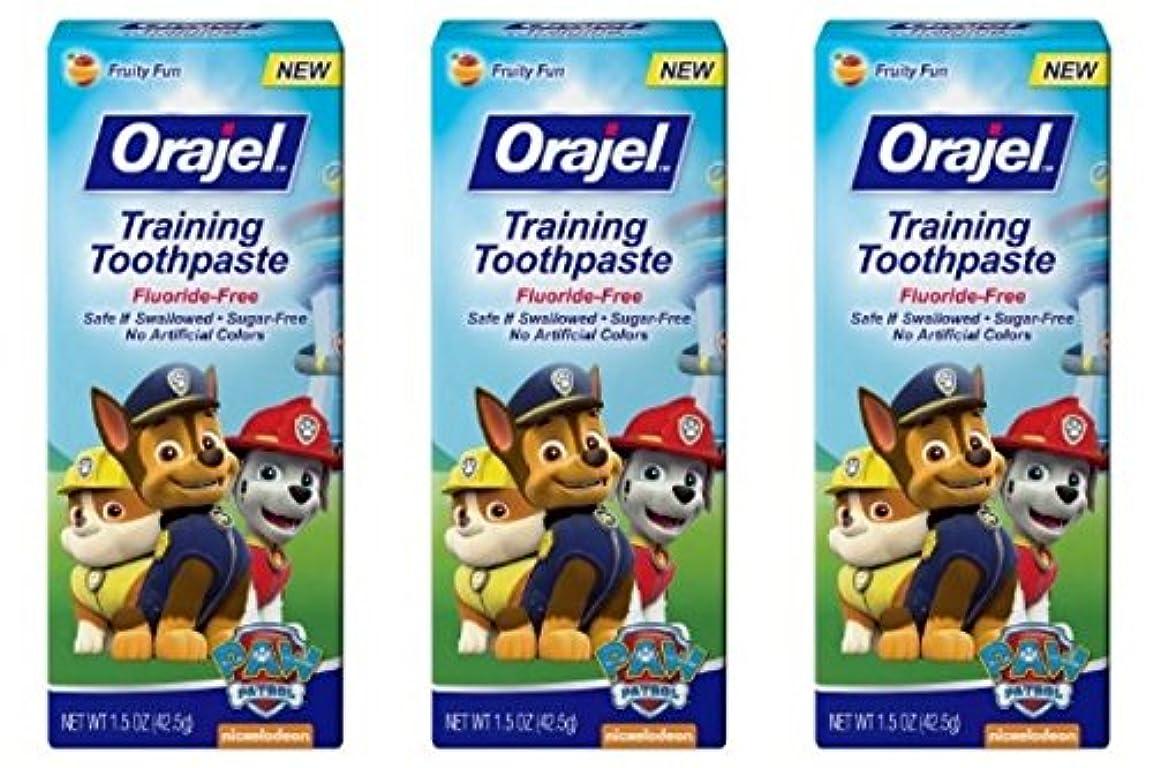 浴室起こる体系的にOrajel 幼児教育ハミガキTootyフルーティーなフレーバー1.50オズ