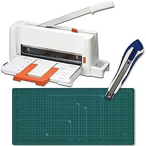 プラス 裁断機 コンパクト断裁機 PK-113 自炊セット カッターマット/カッターナイフ付