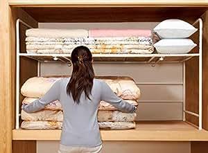 押入れ収納 収納棚 整理棚 布団棚 収納ラック (アミ棚タイプ)