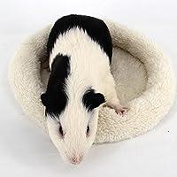 Miyinla ハムスター ハウス 小動物用ベッド ペット用ベッド 小動物用ハウス クッション付き 冬用  保温  あったか  寒さ対策