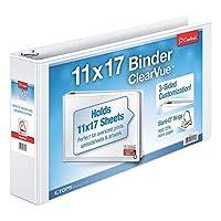 Cardinal 11-Inch x 17-Inch ClearVue Slant-D Ring Binder, 3-Inch, White (22142V3) [並行輸入品]