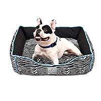 ゼブラ ペットソファー ハウス 犬 猫 S M L 取り出せる クッション付き 清潔 暖か ふわふわ 安眠 ペット寝床 ペットクッション