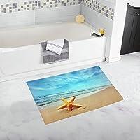 interestprint Summer Palm Tree over tropical beach oceanホーム装飾非スリップBath Rugセット吸収性用フロアマット浴室浴槽寝室Largeサイズ20 x 32インチ 20x32 inch B0031-F20in