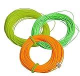 Posmant 釣り フライライン 30.48M 3色【 黄、オレンジ、绿 】 5F