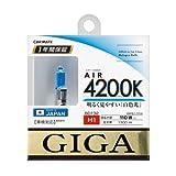 カーメイト 車用 ハロゲン ヘッドライト GIGA エアー H1 4200K 1300lm ホワイト BD132