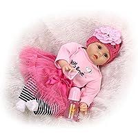 NPKDOLLシミュレーションRebornベビー人形ソフトSilicone 22インチ55 cmビニールLifelike Vivid Toy Boy GirlホワイトLoveピンクドレス