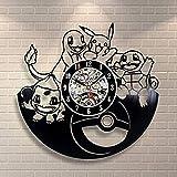 ポケモン漫画アートピカチュウウォールクロックヴィンテージキッズルームの装飾ポケモン誕生日ギフト用キッズ