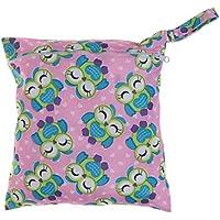 SONONIA 防水 再利用可能 赤ちゃん ジッパー おむつ袋 ウェット ドライ 水泳 トラベル トート バッグ 収納バッグ 全11色 選べる - #9