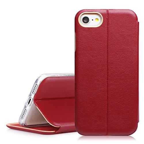 iPhone8 ケース iPhone7ケース,Fyy 高品質PC +高級本革 100%手作り カード...